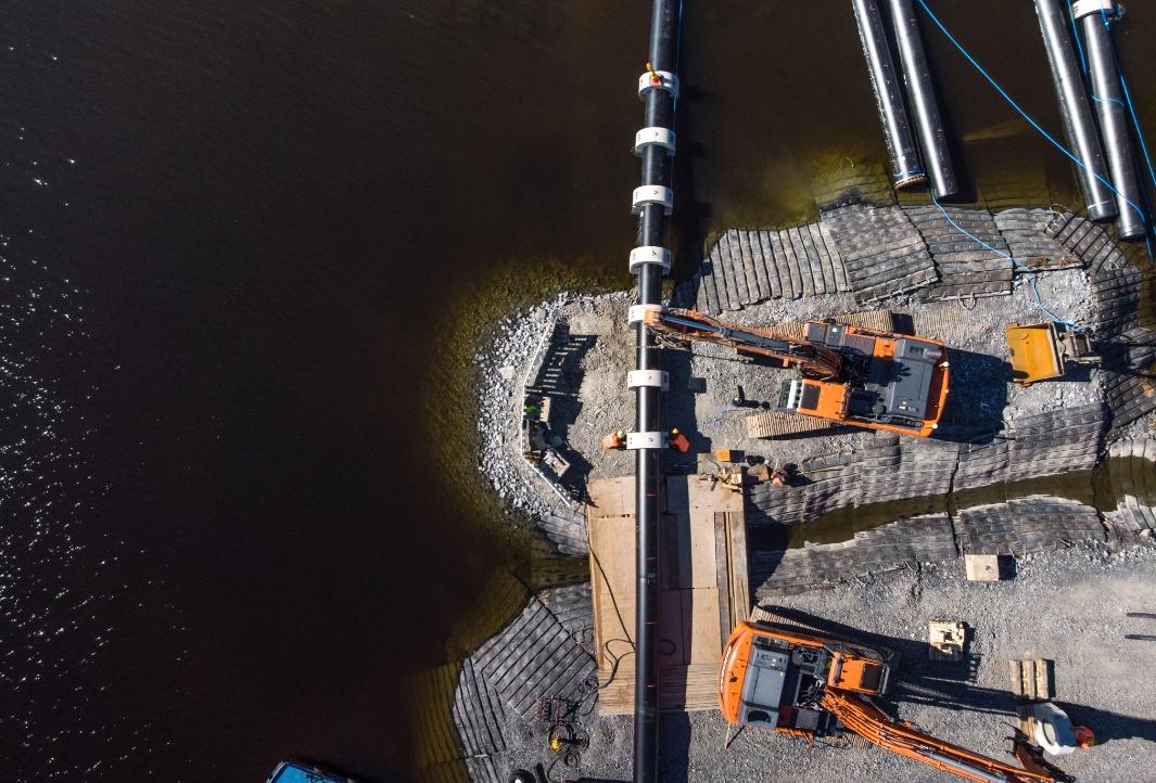 Betoniset pulttipainot Tampereen Seudun Keskuspuhdistamolle