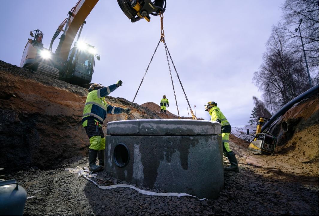 JA-KO Betonilta betonikaivot ja pylväsjalustat Kokkolan Tapahtumapuistoon
